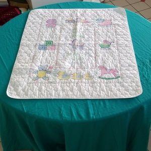 Embroidered baby blanket handmade